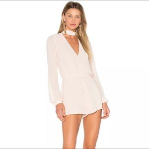 Lovers + Friends Taylor Blush Romper